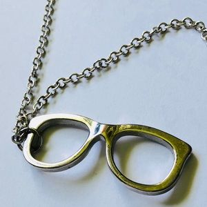 Silver Glasses Necklace by Forever 21